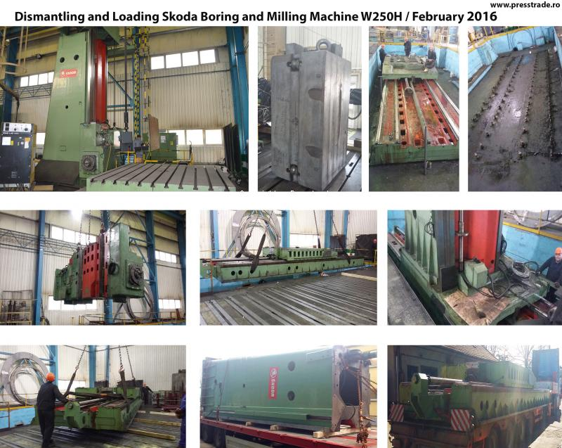 Dismantling and Loading Skoda Boring and Milling Machine W250H